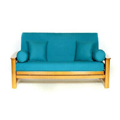 LS COVERS TEAL FULL FUTON COVER, Full Size Fits 6-8in Mattre