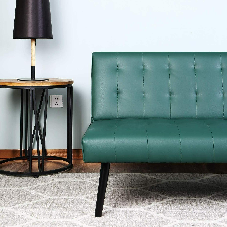 Adjustable Leather Sofa Sleeper Futon