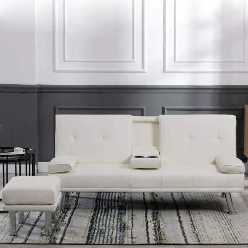 Sleeper PU Couch Recliner
