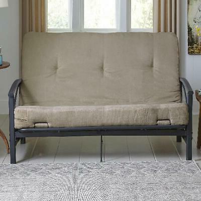 "Futon 6"" Tan Comfortable Sitting Tufted Design New"