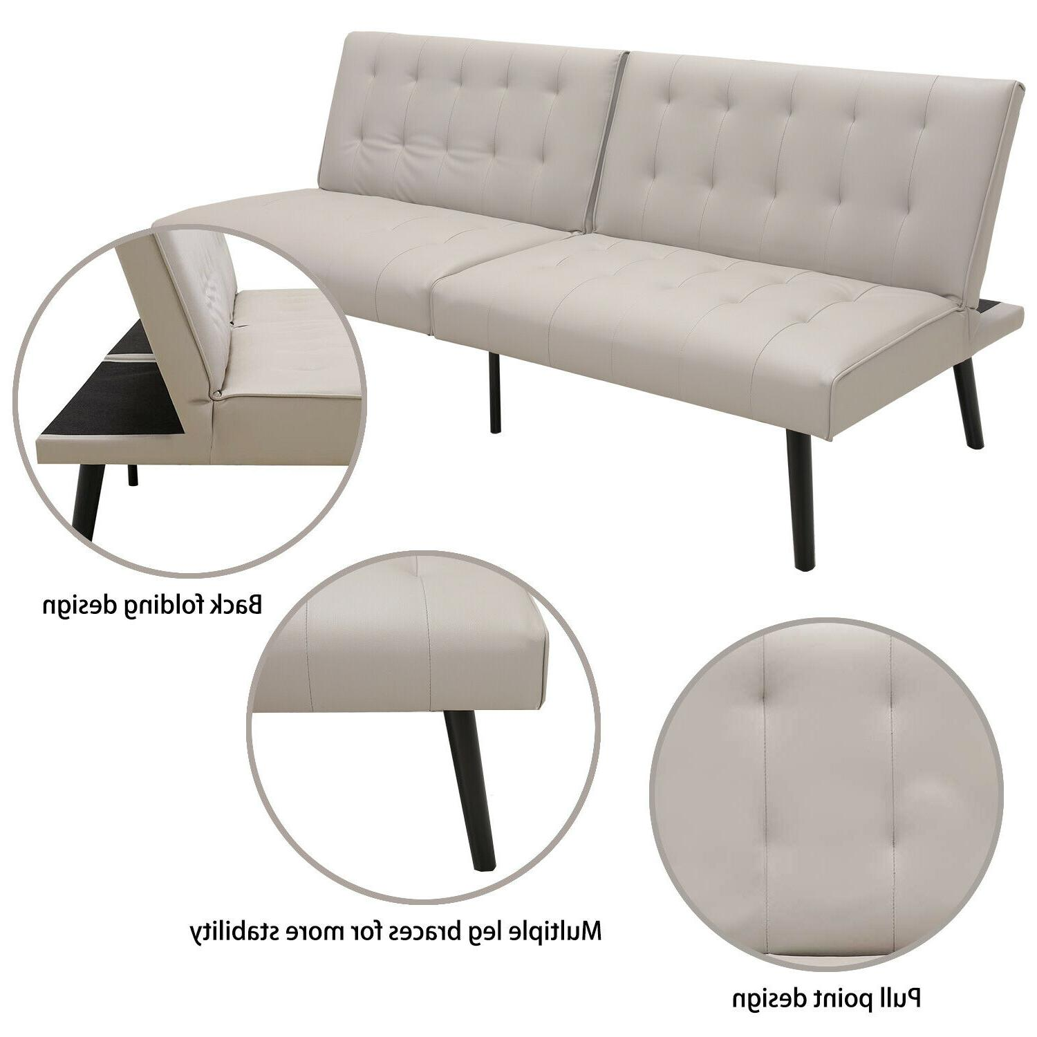 """Convertible Bed Sleeper Lounge Loveseat Daybed 68.5"""" W"""