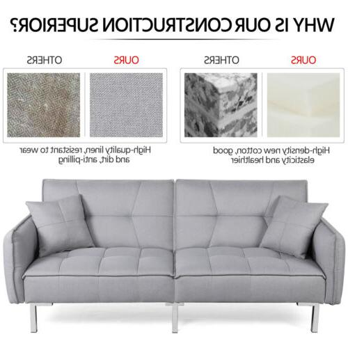Convertible Sleeper Sofa Bed Sectional Futon Couch Pull Out Bed