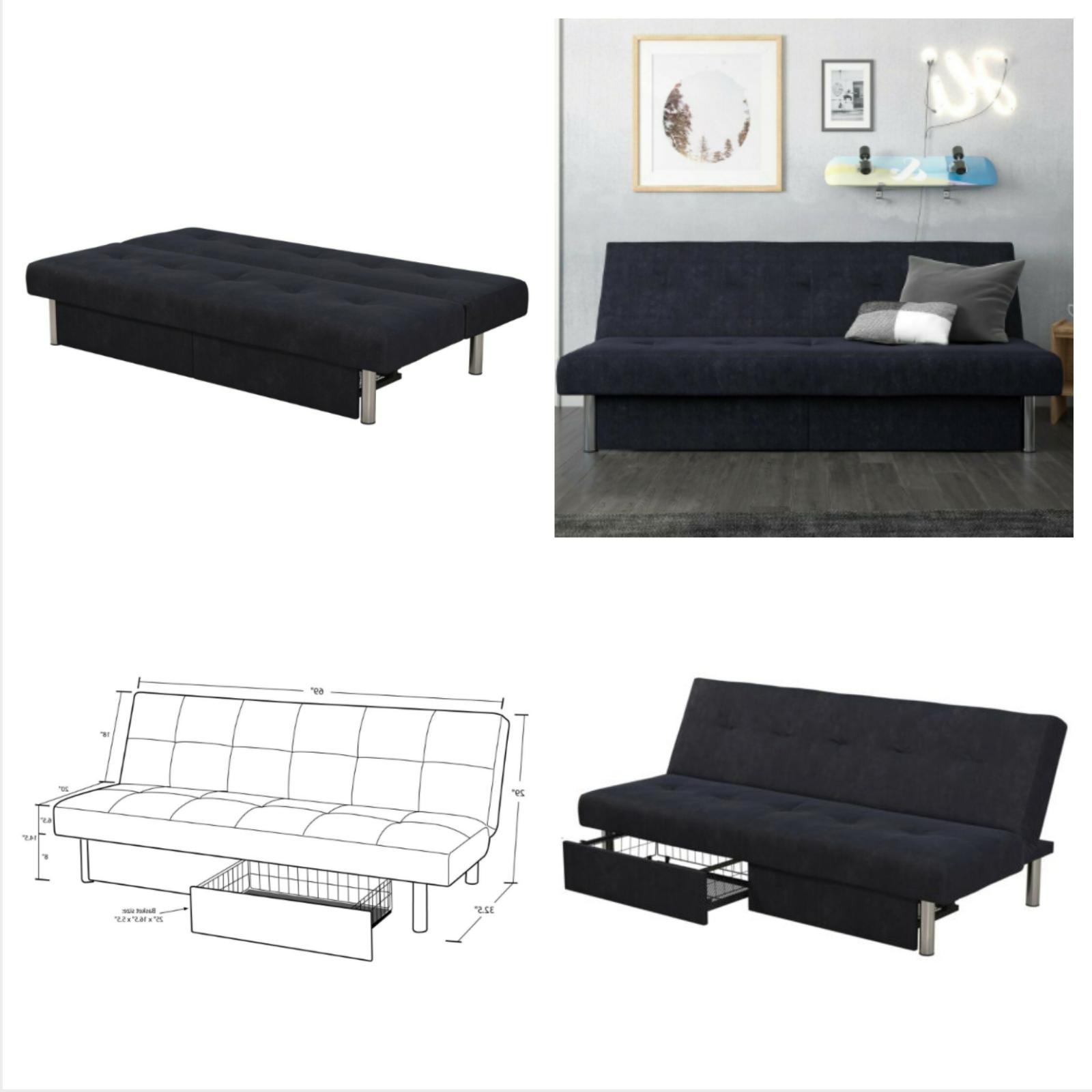 convertible sleeper sofa futon bed lounger couch