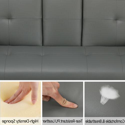 Convertible Sofa PU Living