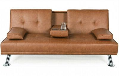 Faux Leather Futon Bed Recliner Couch Sleeper FULL Convertible