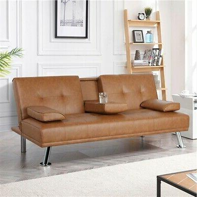 Faux Leather Futon Bed Recliner FULL Loveseat