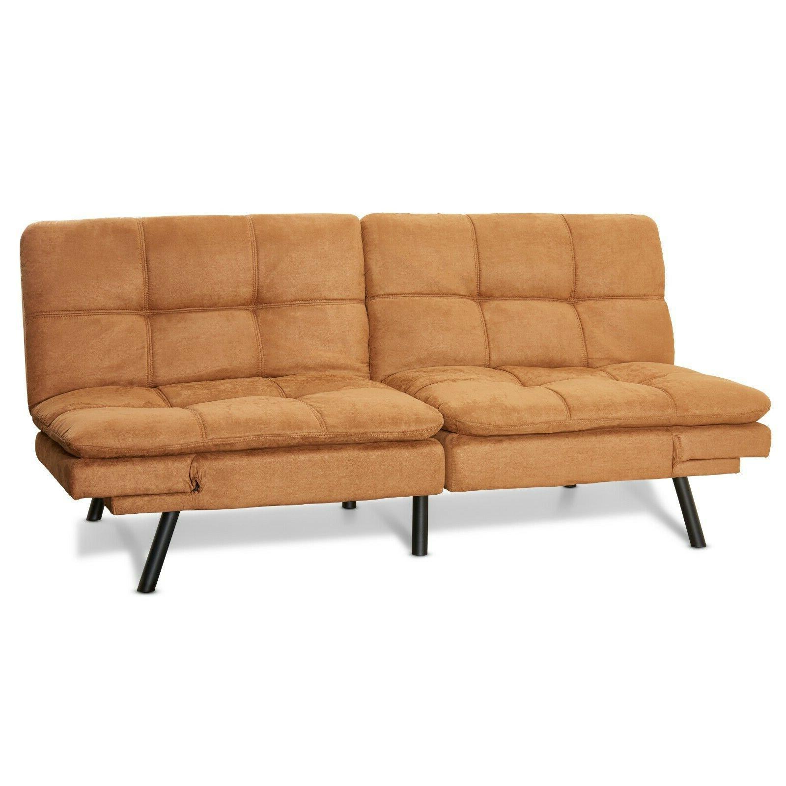 Memory Foam Futon Bed Sleeper Convertible Foldable Loveseat Size