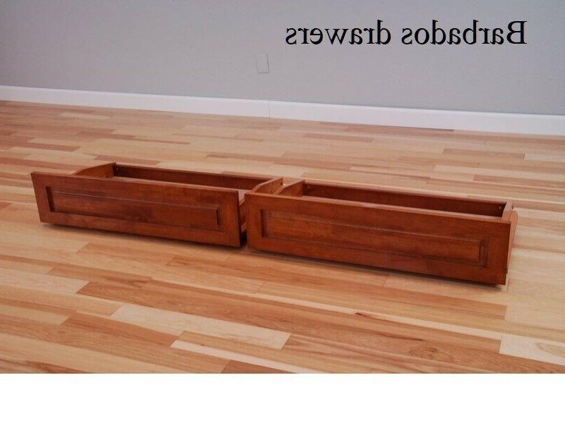 Set 2 castered drawers for futon, of