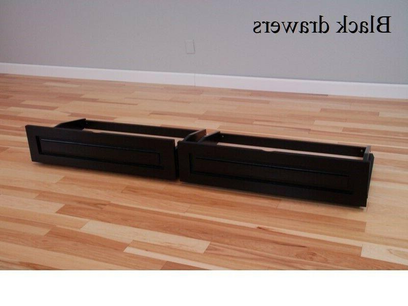 Set of 2 drawers futon, choice of finishes