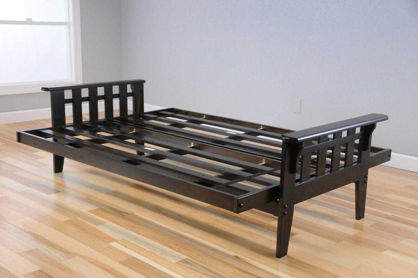 "Kodiak 81"" Tucson futon frame set, walnut. mattress"