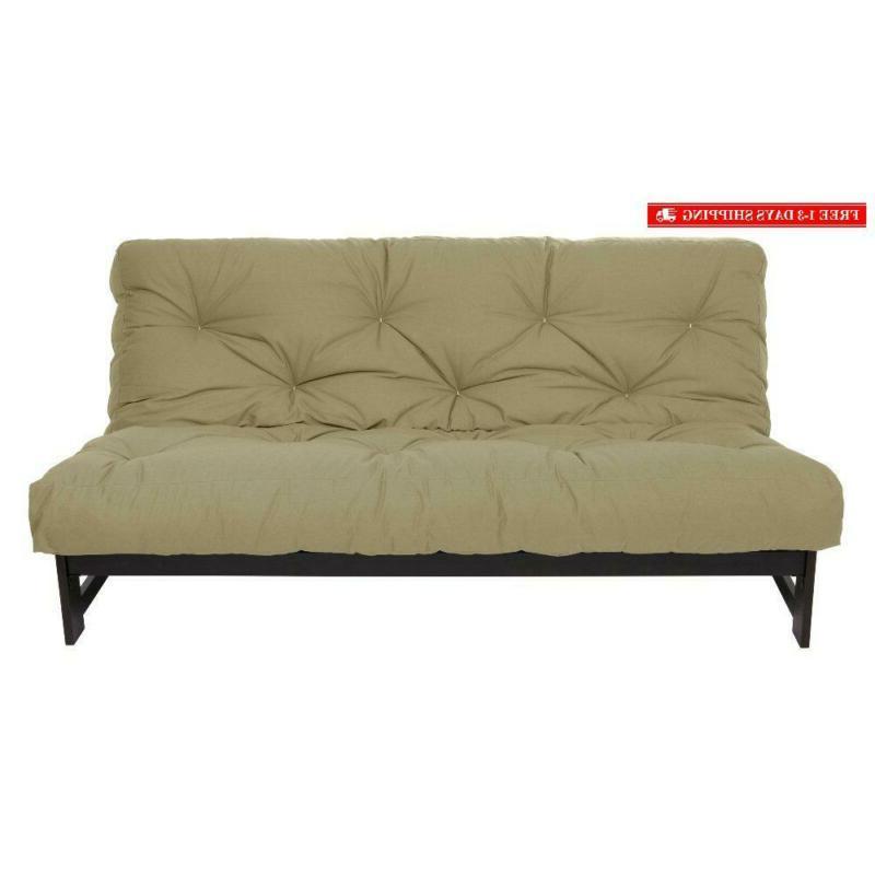 full size 6 inch cotton twill futon