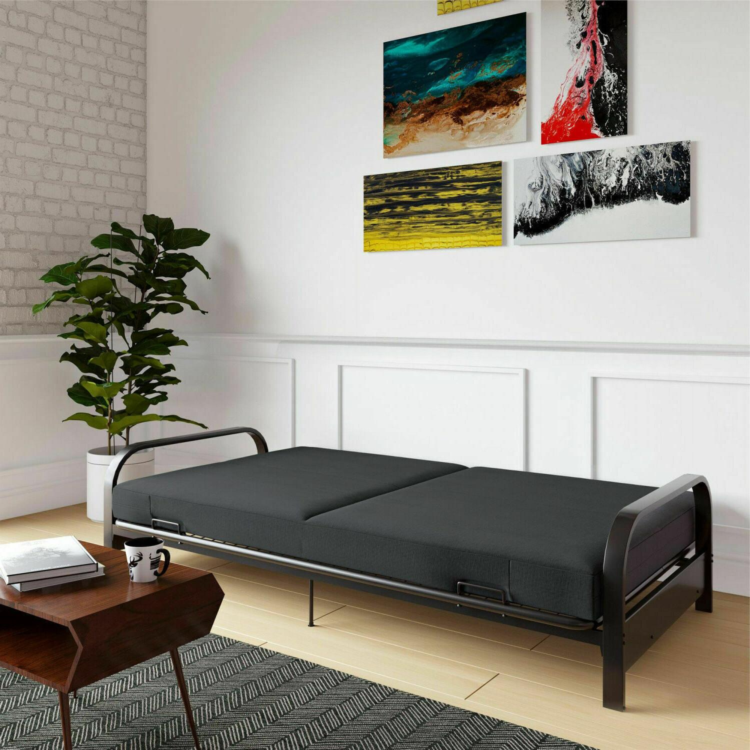 Full Size Sofa Frame And Mattress Set Convertible Couch
