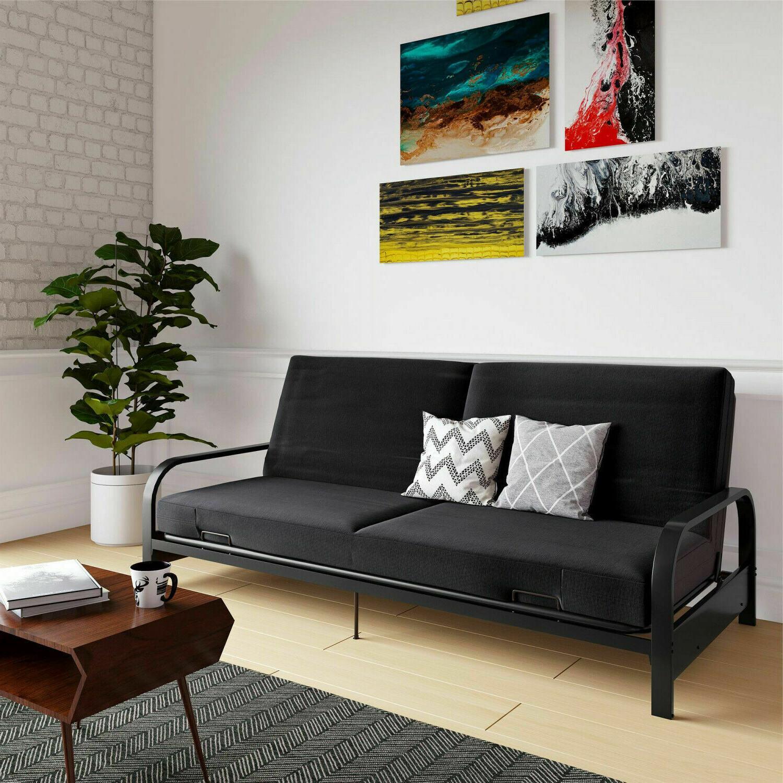 full size futon sleeper sofa bed metal