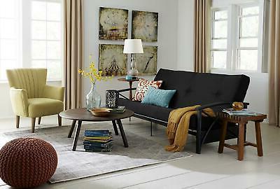 Futon Mattress Couch Black