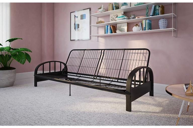 Futon Metal Size Black Dorm Guest Couch Brandnew