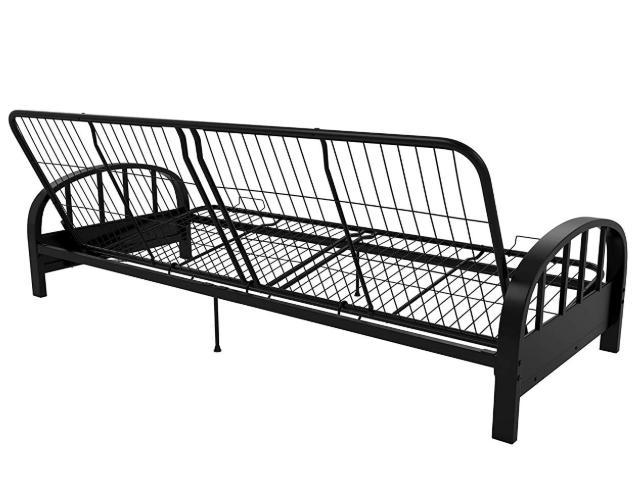 Futon Metal Frame Size Premium Sleeper Black Guest Brandnew