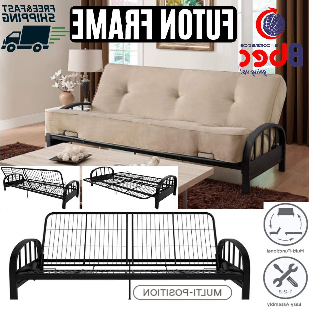 futon metal frame full size premium sofa