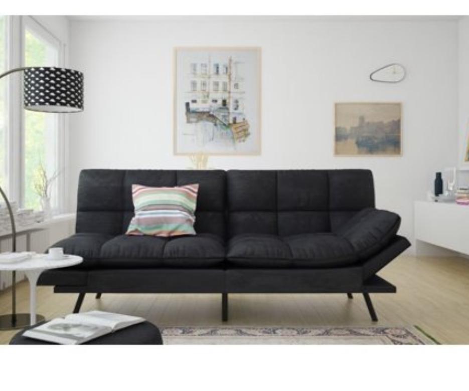 Futon Set Lounger Memory Foam Mattress Full Size Sofa Frame