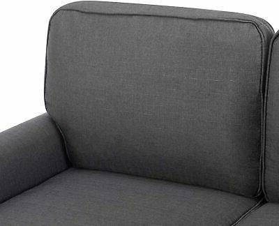 Futon Loveseat Ergonomic Padded 2-Seater Soft