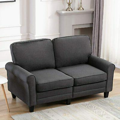 Futon Sofa Loveseat Couch Ergonomic 2-Seater