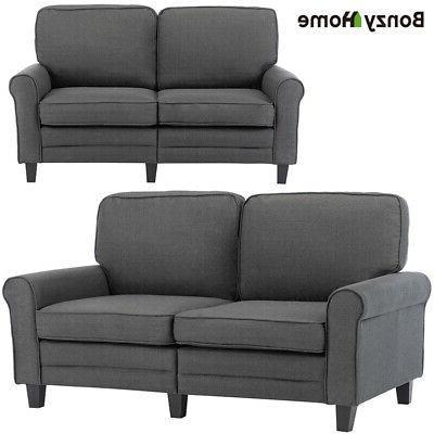 Futon Sleeper Sofa Loveseat Couch 2-Seater Fabric