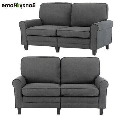 Futon Sleeper Bed Loveseat Couch Ergonomic 2-Seater