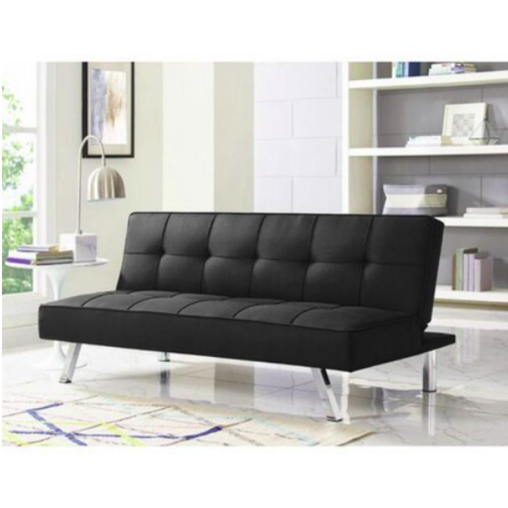 Futon Sofa Bed Couch Seat Full Size Black
