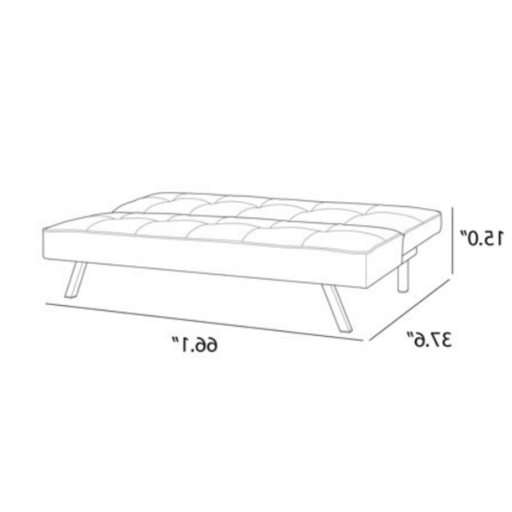 Futon Sofa Convertible Couch Seat Foldable Full Size Black