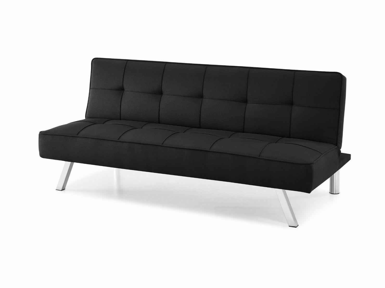 Futon Couch 3 Full Black