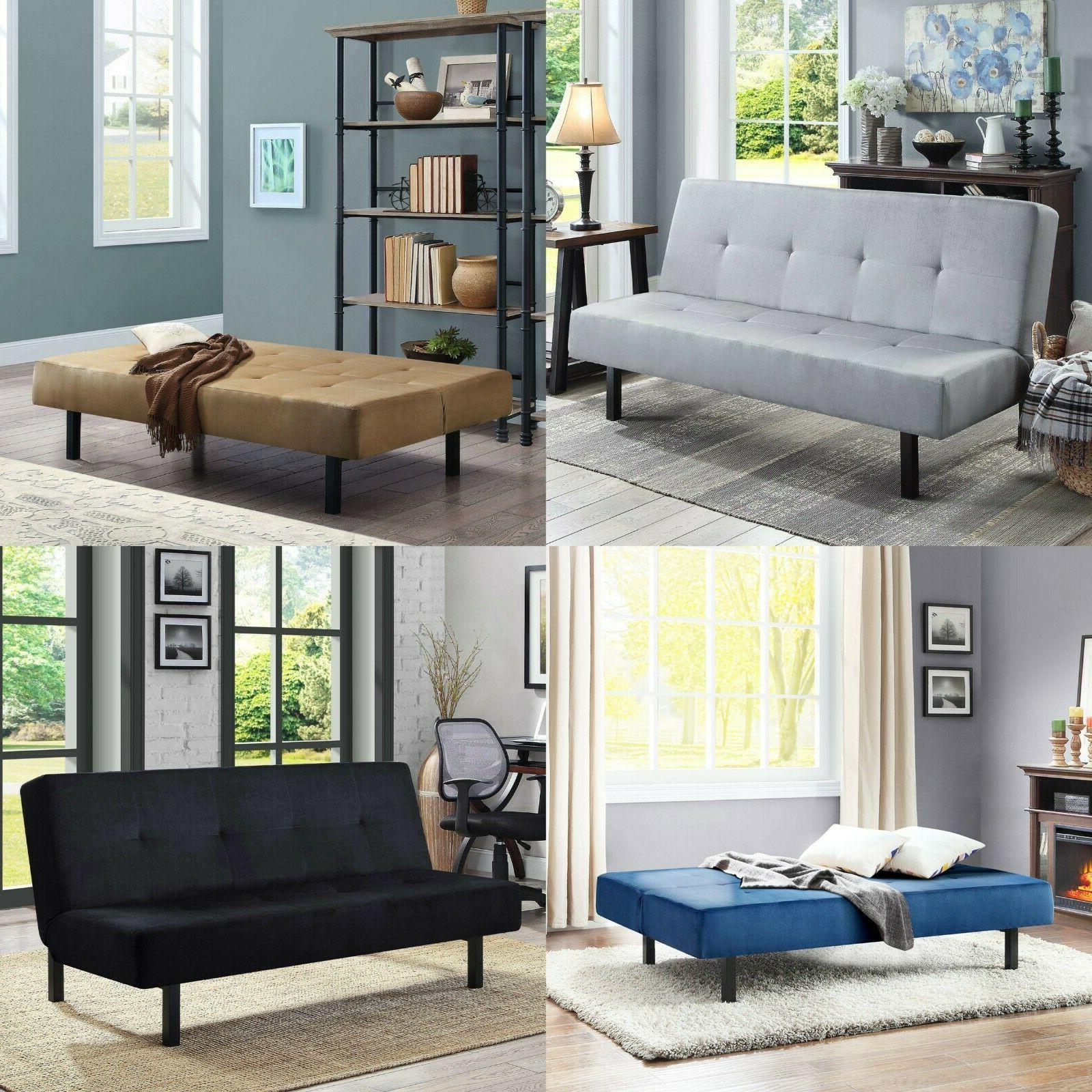 futon sofa bed sleeper convertible couch tufted