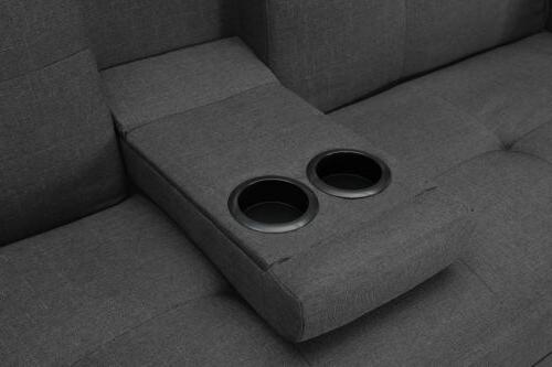 Home Modern Bed Couch Love Seats Cup Holder