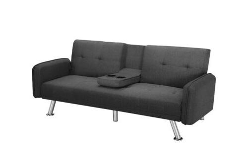 Home Furniture Modern Bed Couch Futon Love Seats with Cup Holder