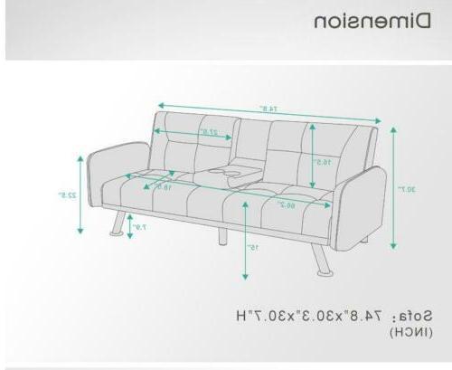 Home Furniture Sofa Bed Sleeper Love Seats 2 Cup