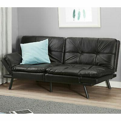 memory foam full size futon w foldable