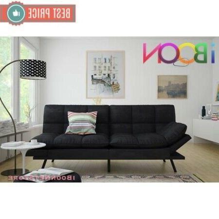 Memory Futon Sofa Foldable Black