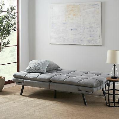 Faux Sofa Full Memory Sleeper