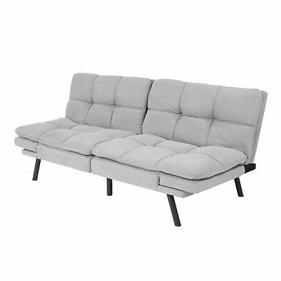 Faux Leather Sofa Bed Full Size Memory