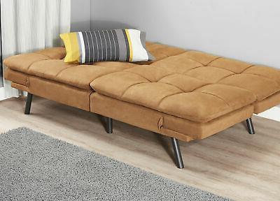 Faux Leather Full Sleeper Foldable Futon