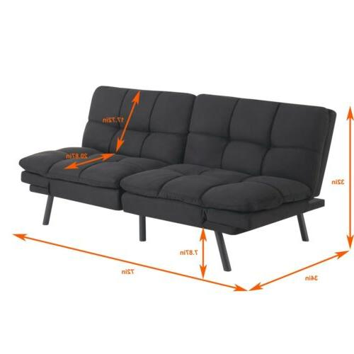 Modern Memory Sofa Bed Couch Convertible Loveseat