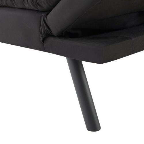 Modern Foam Futon Sofa Couch Convertible Foldable