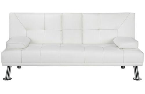 Modern Faux Leather Modern Convertible Living