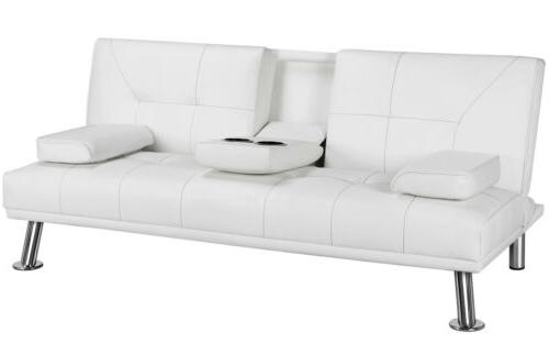 Modern Futon Bed Faux Leather Modern Convertible Room
