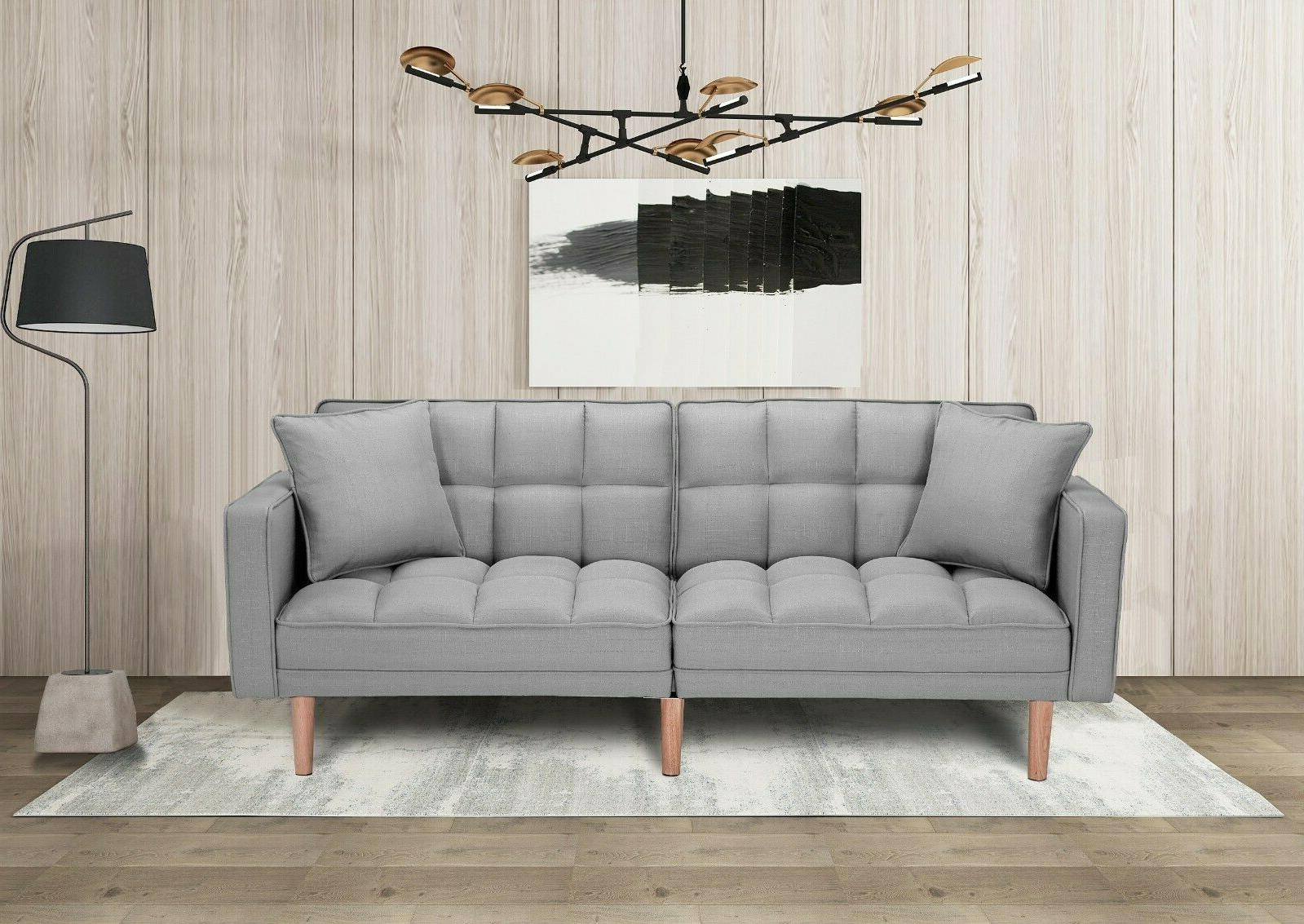 Futon Sofa Bed Reclining Back Sofa Sleeper Folding Lounge Co