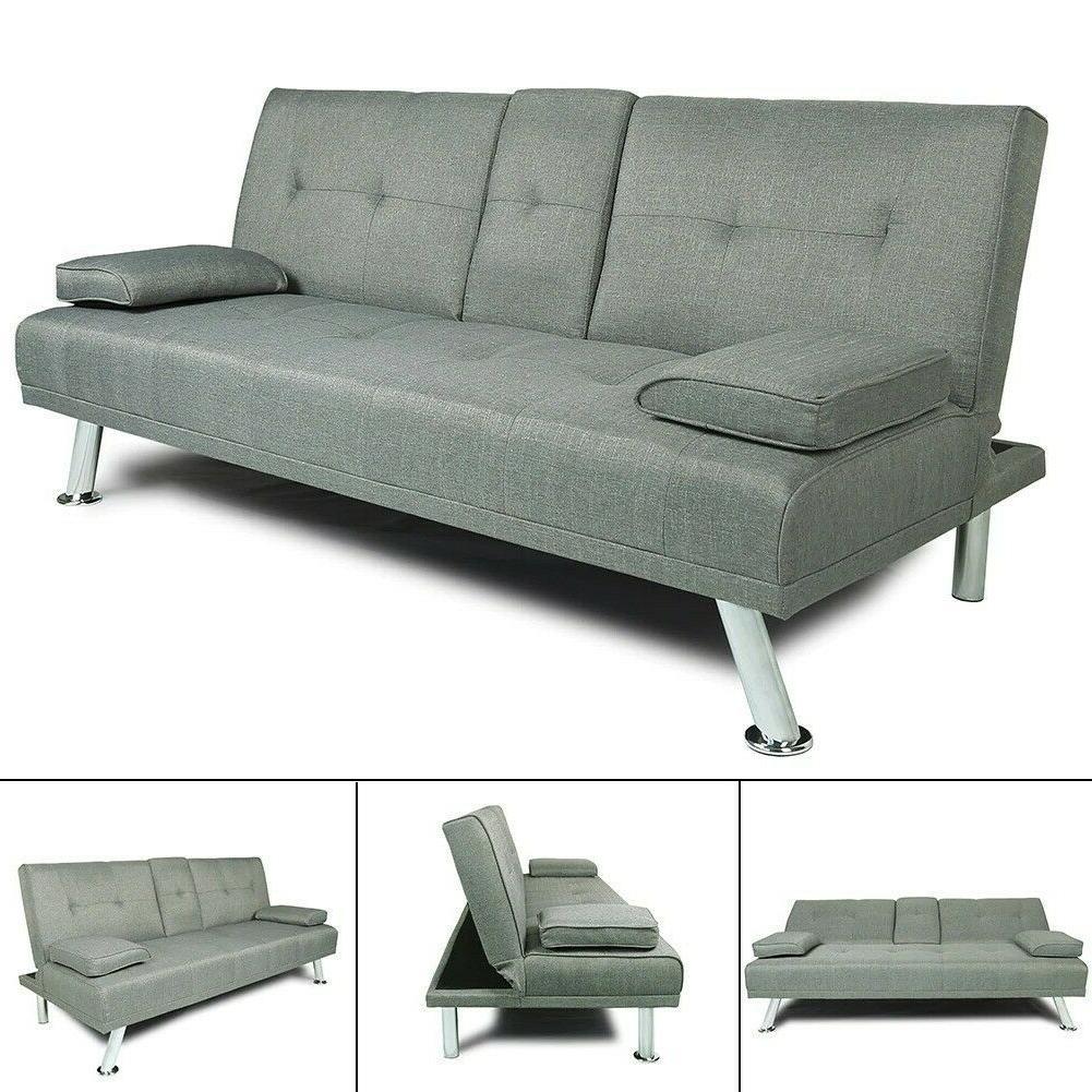 Modern 3 Futon Sofa
