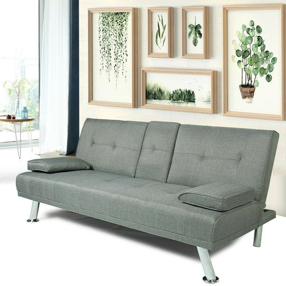 Modern Sofa 3 Seats Futon