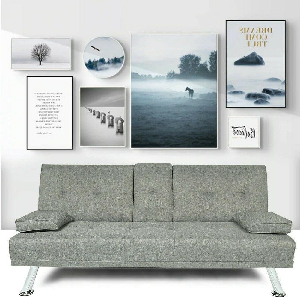 modern sofa 3 seats futon sofa bed