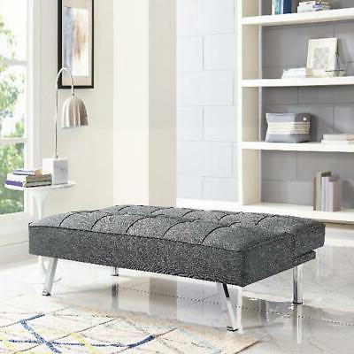 Modern Futon Couch Convertible Microfiber Seat Multicolor