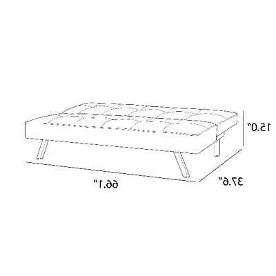 Futon Sofa Convertible 3 Foldable Full Mattress