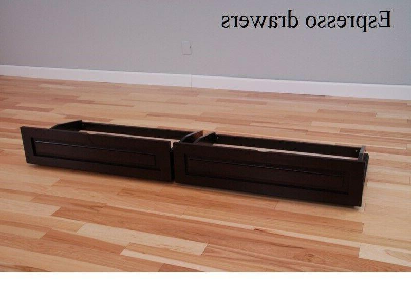 Set of 2 castered drawers Kodiak full futon, choice of