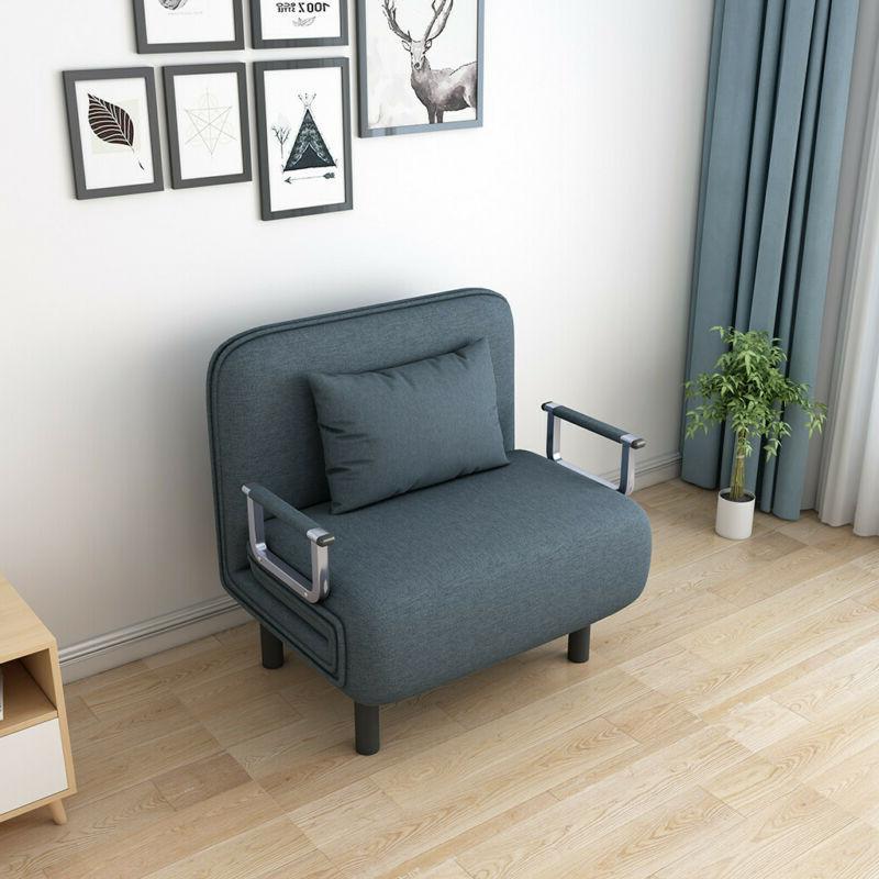 Sleeper Sofa BLUE -Convertible Modern Living